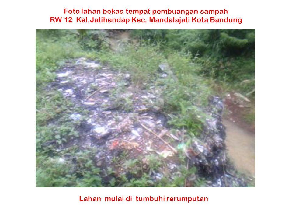 Foto lahan bekas tempat pembuangan sampah