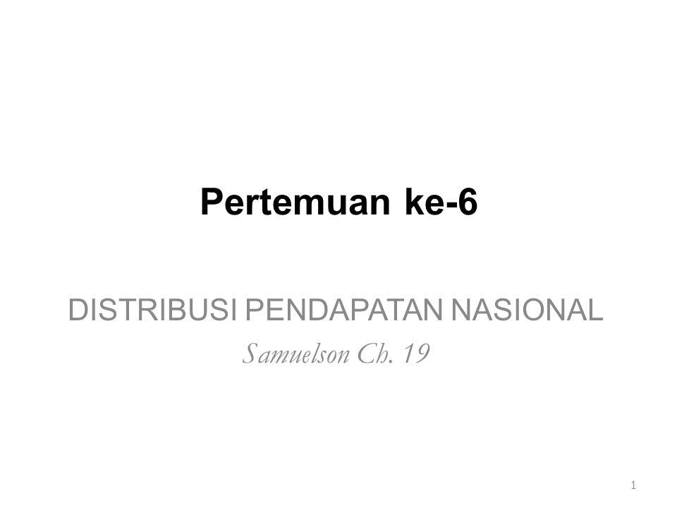 DISTRIBUSI PENDAPATAN NASIONAL Samuelson Ch. 19
