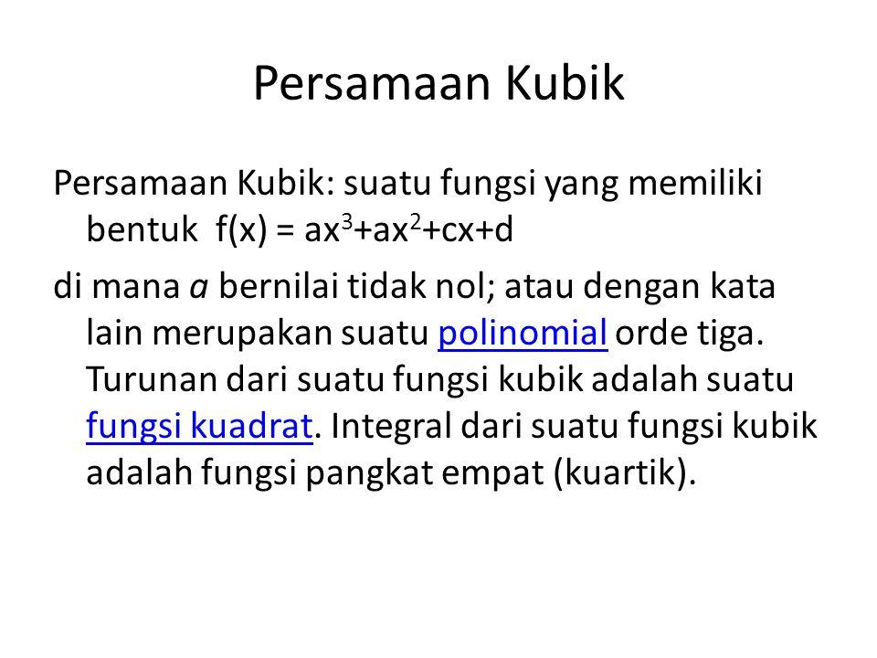 Persamaan Kubik