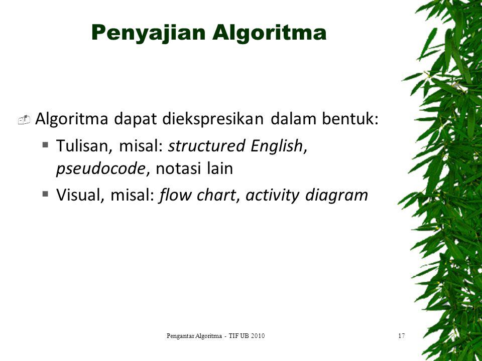 Pengantar Algoritma - TIF UB 2010