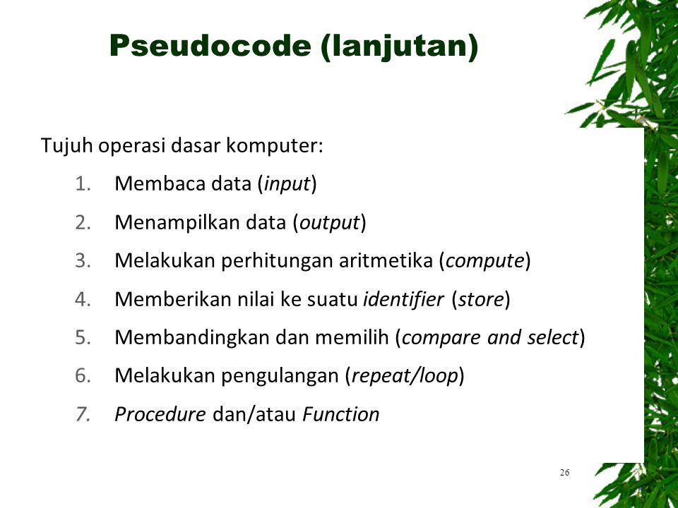 Pseudocode (lanjutan)