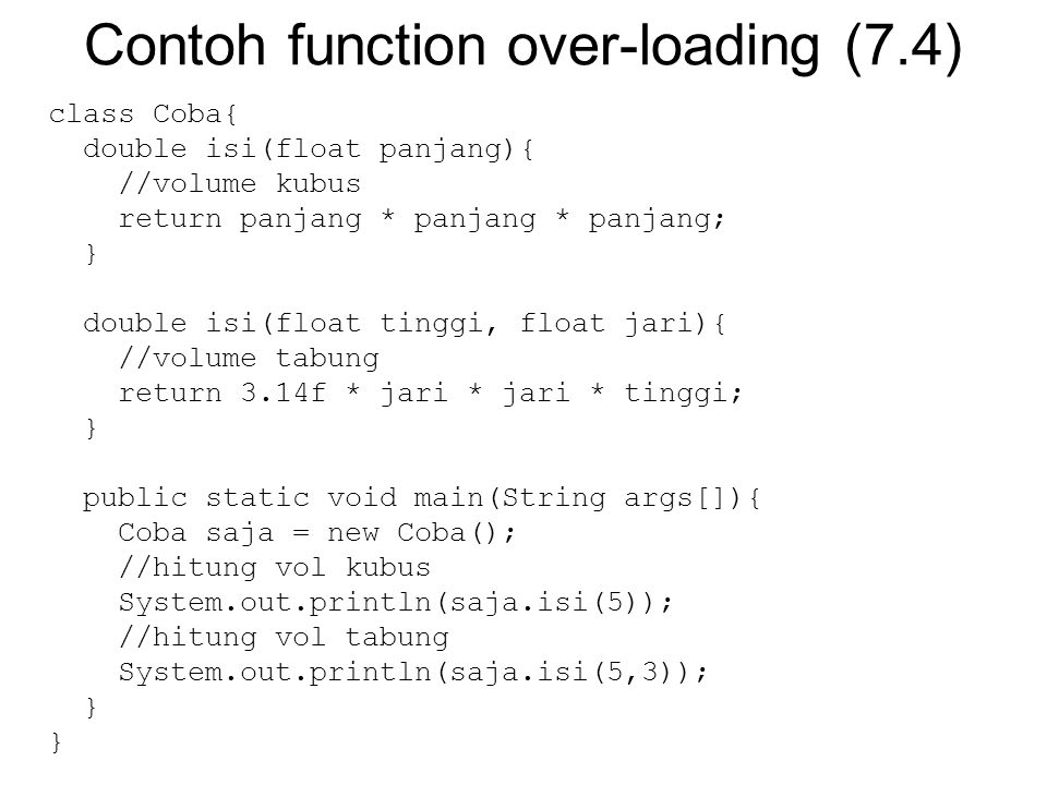 Contoh function over-loading (7.4)