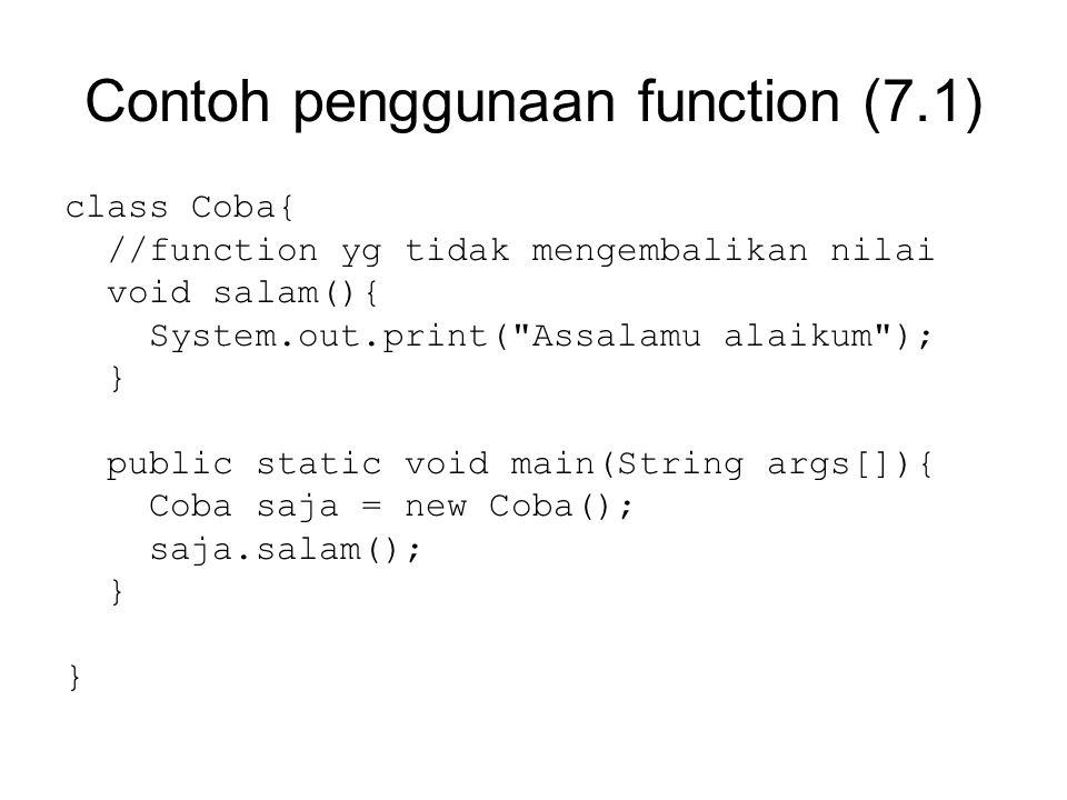 Contoh penggunaan function (7.1)