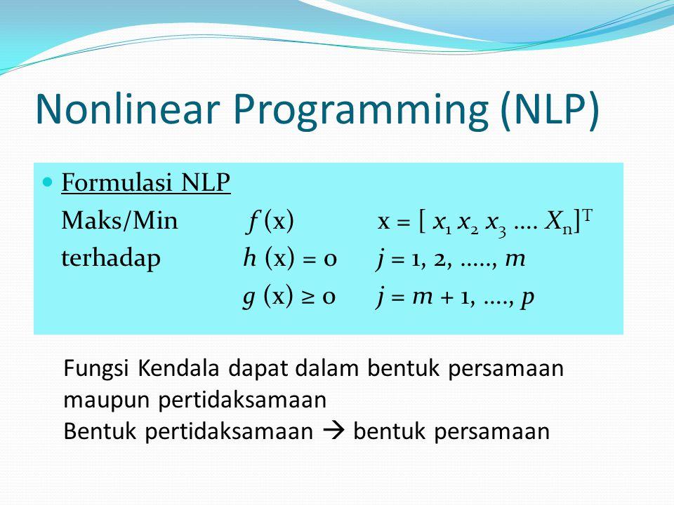 Nonlinear Programming (NLP)