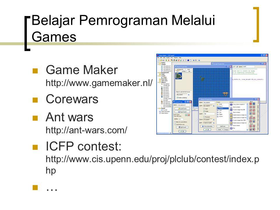 Belajar Pemrograman Melalui Games