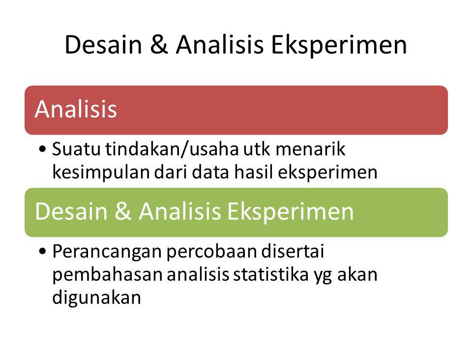Desain & Analisis Eksperimen