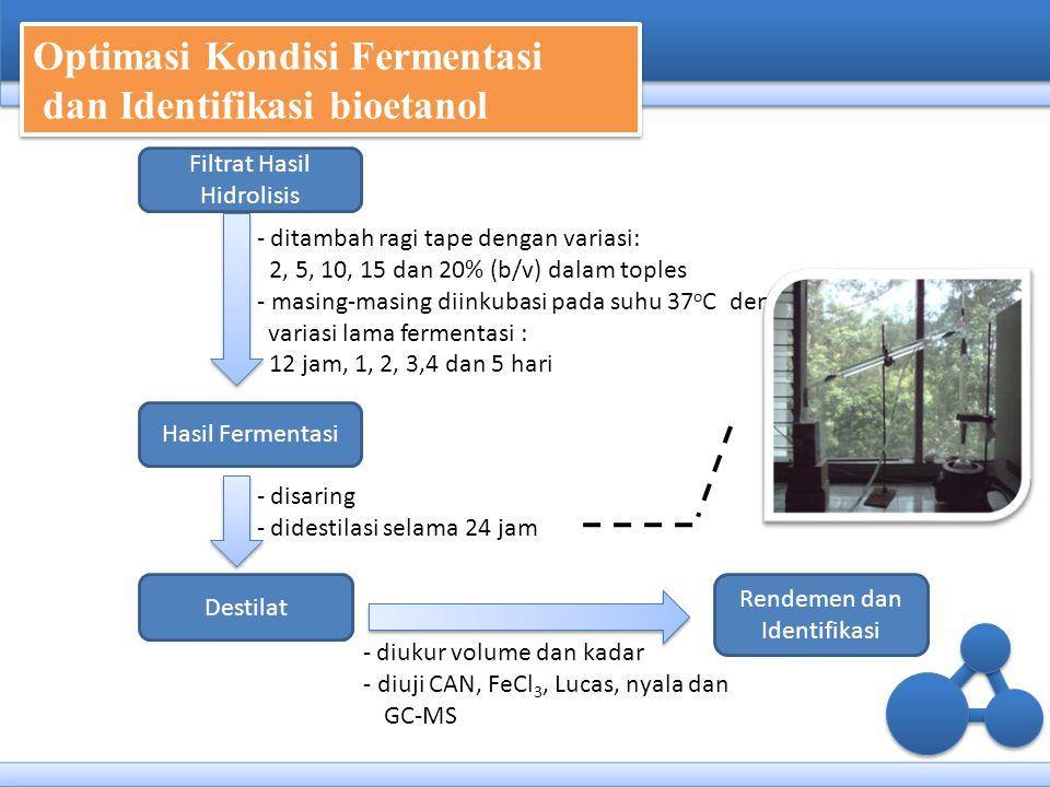 Optimasi Kondisi Fermentasi dan Identifikasi bioetanol