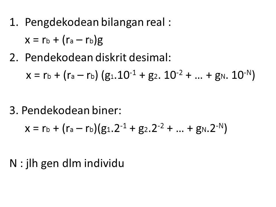 Pengdekodean bilangan real :
