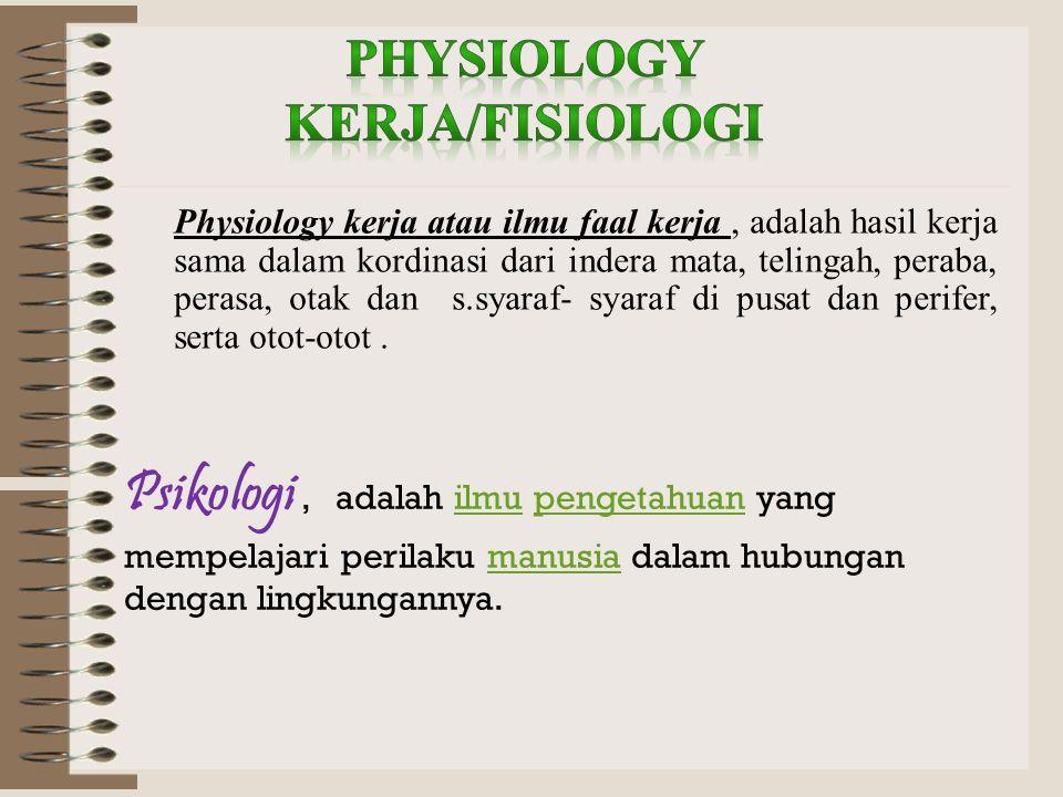 PhySIOLOGy KERJA/FISIOLOGI