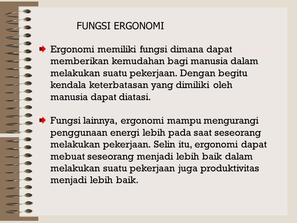 FUNGSI ERGONOMI