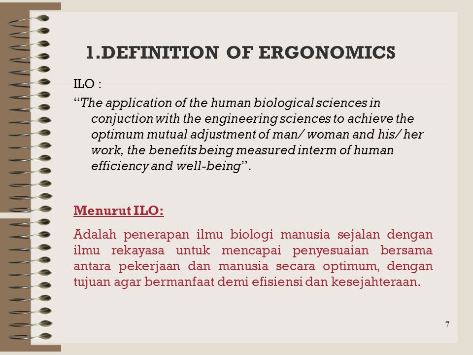 1.DEFINITION OF ERGONOMICS