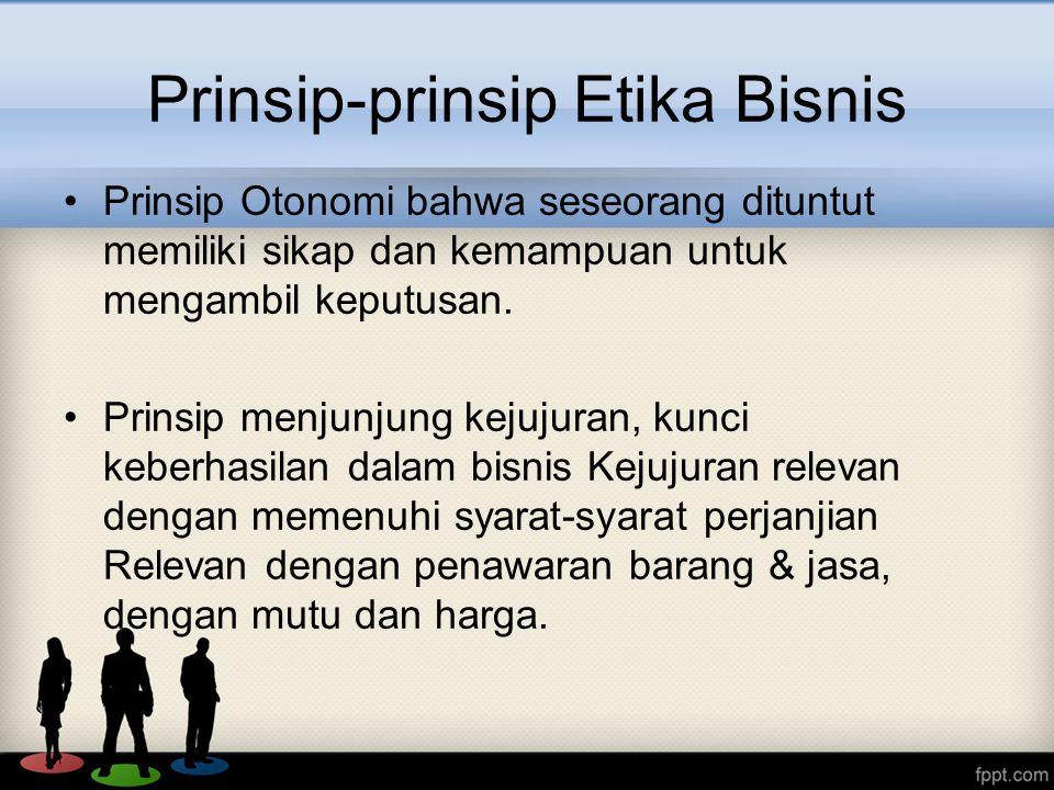 Prinsip-prinsip Etika Bisnis
