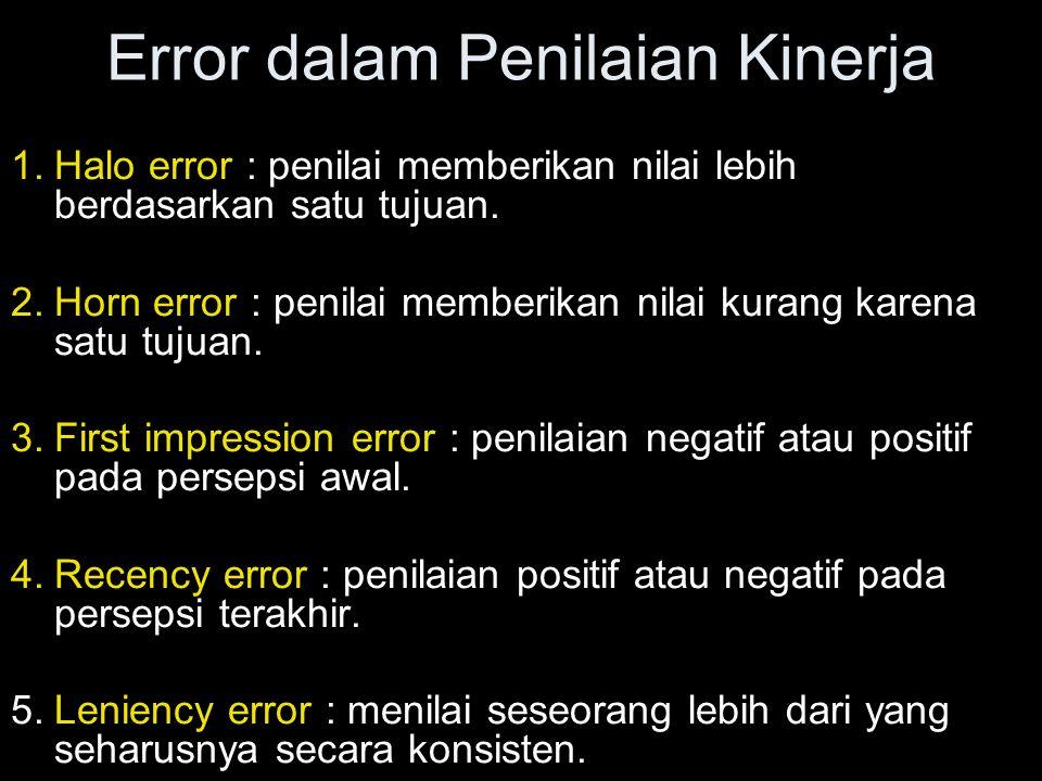 Error dalam Penilaian Kinerja