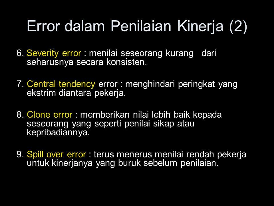 Error dalam Penilaian Kinerja (2)