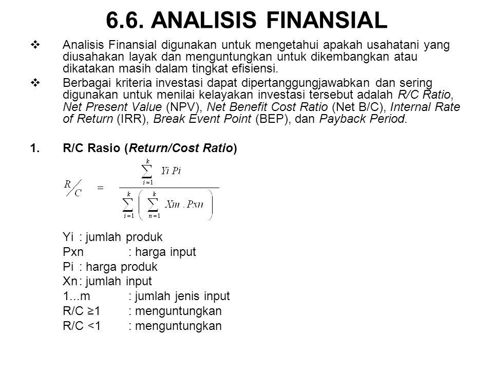 6.6. ANALISIS FINANSIAL