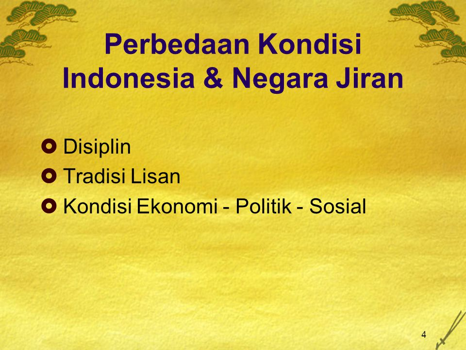 Perbedaan Kondisi Indonesia & Negara Jiran