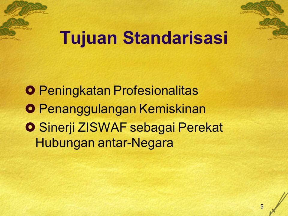 Tujuan Standarisasi Peningkatan Profesionalitas