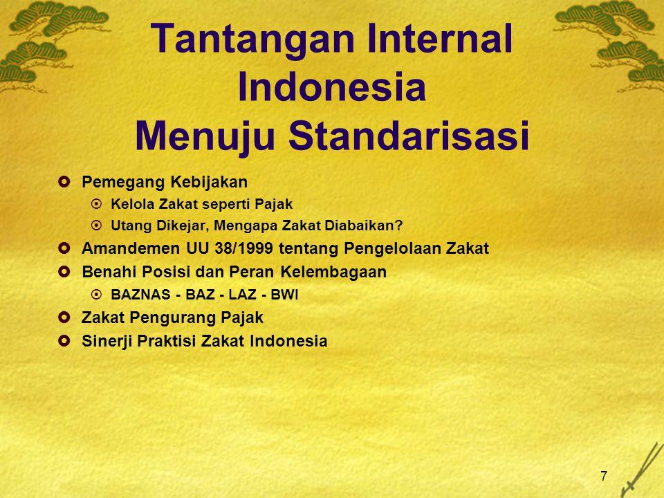 Tantangan Internal Indonesia Menuju Standarisasi