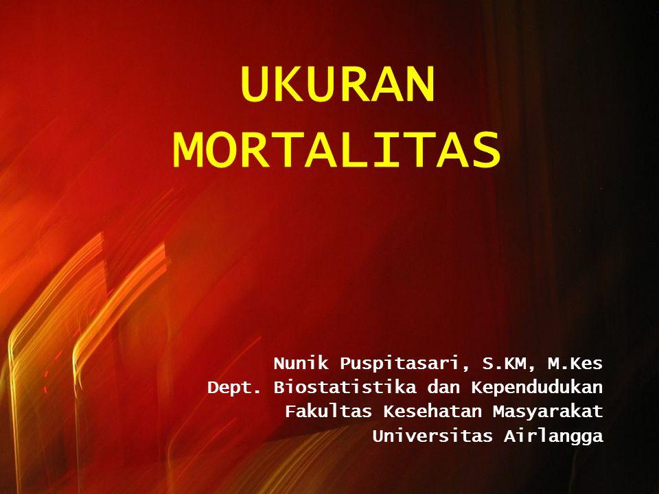 UKURAN MORTALITAS Nunik Puspitasari, S.KM, M.Kes