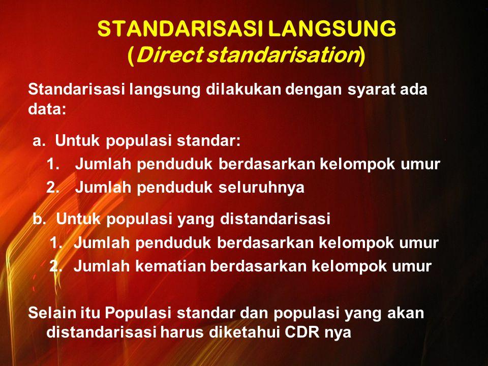 STANDARISASI LANGSUNG (Direct standarisation)