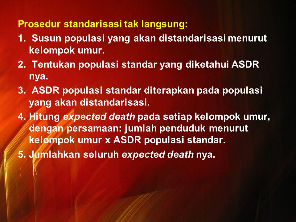 Prosedur standarisasi tak langsung: