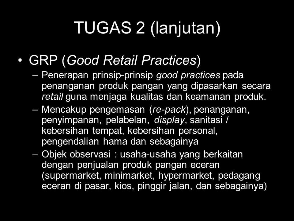 TUGAS 2 (lanjutan) GRP (Good Retail Practices)
