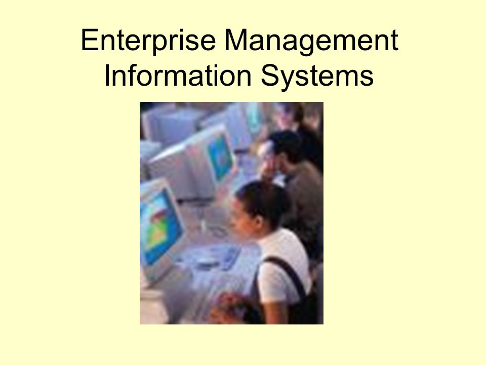 Enterprise Management Information Systems
