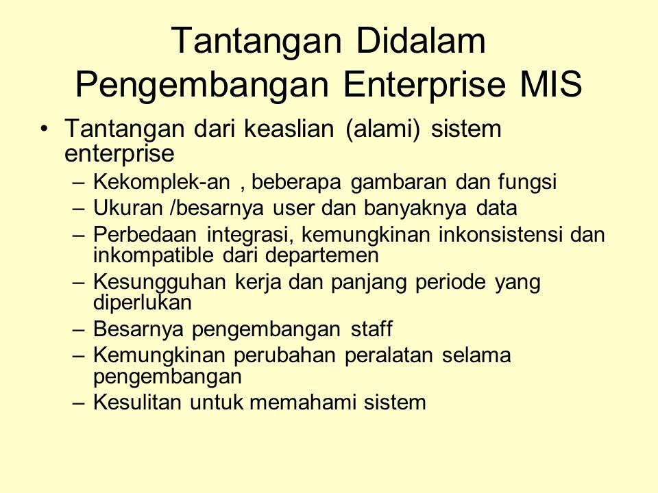 Tantangan Didalam Pengembangan Enterprise MIS