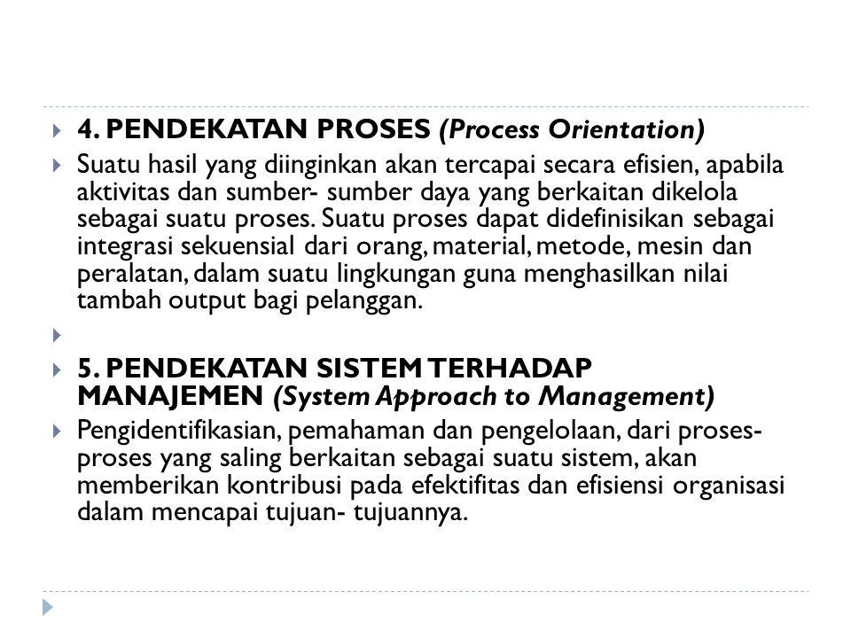 4. PENDEKATAN PROSES (Process Orientation)