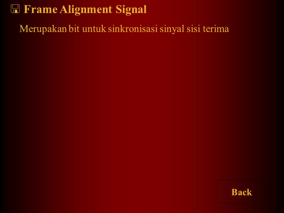 Frame Alignment Signal