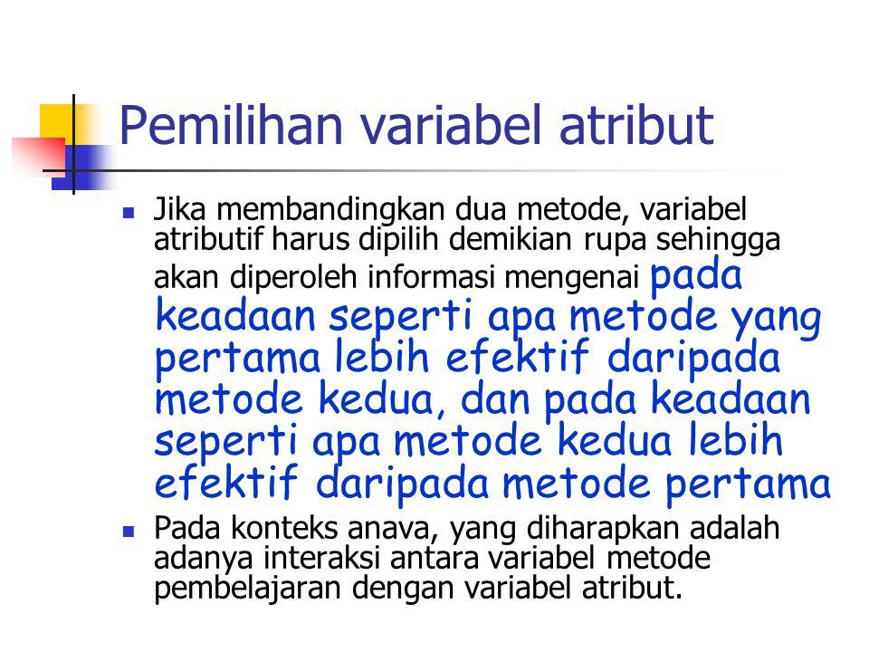 Pemilihan variabel atribut