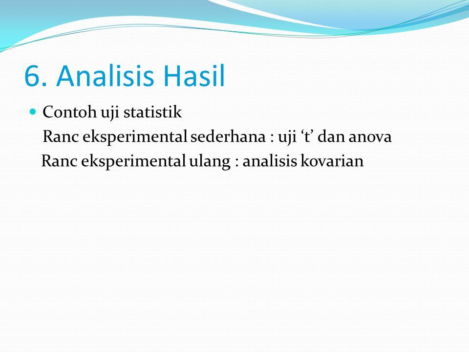 6. Analisis Hasil Contoh uji statistik