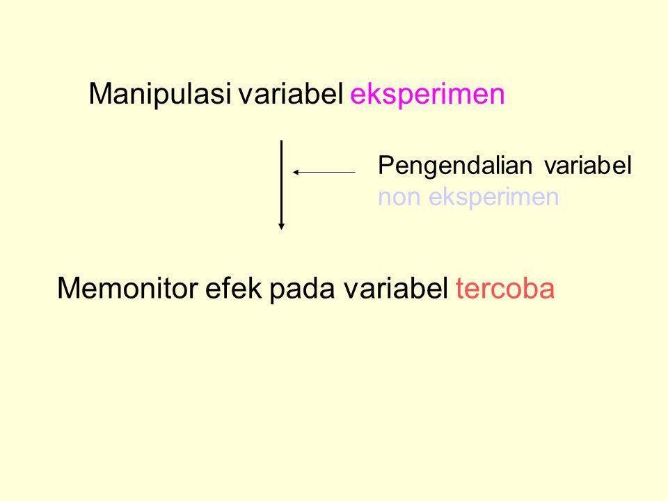 Manipulasi variabel eksperimen