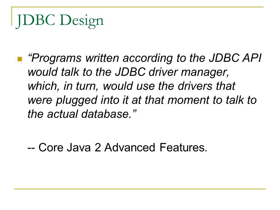 JDBC Design