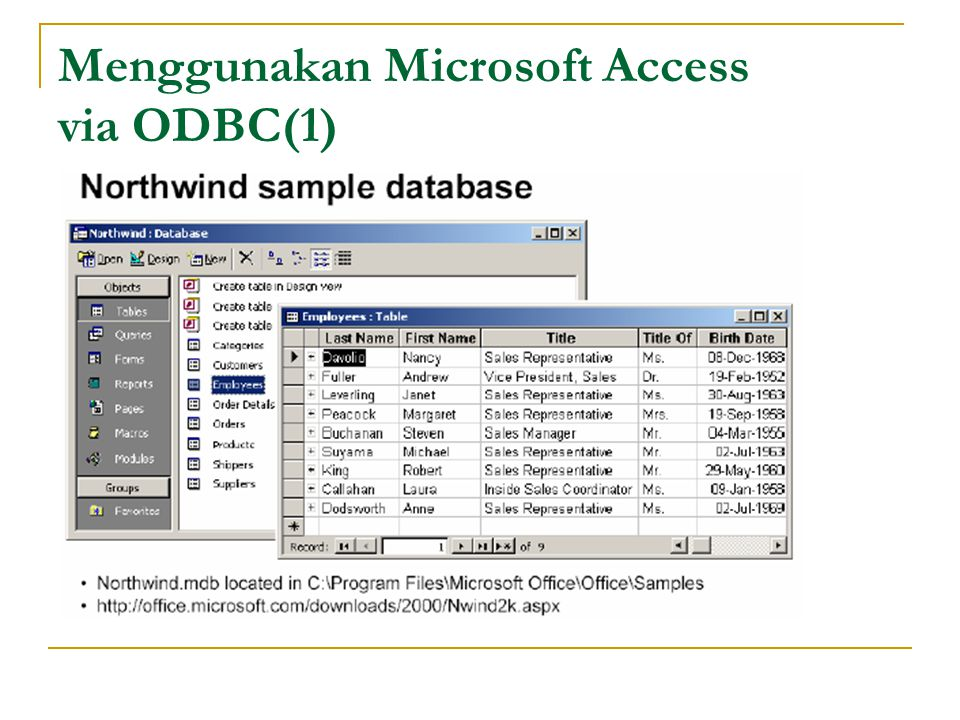 Menggunakan Microsoft Access via ODBC(1)
