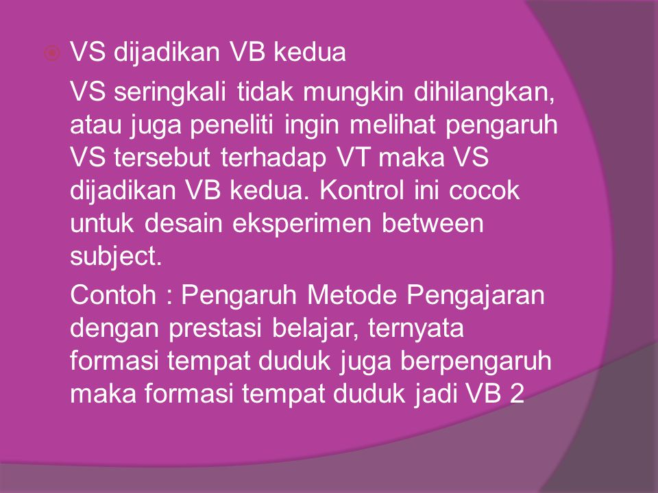 VS dijadikan VB kedua