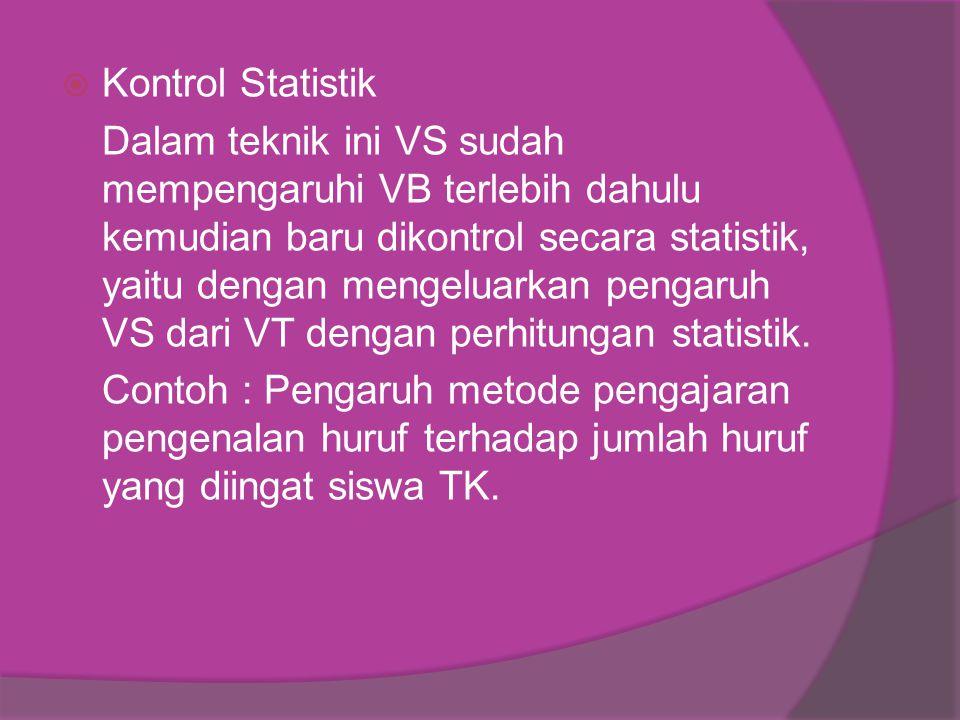 Kontrol Statistik