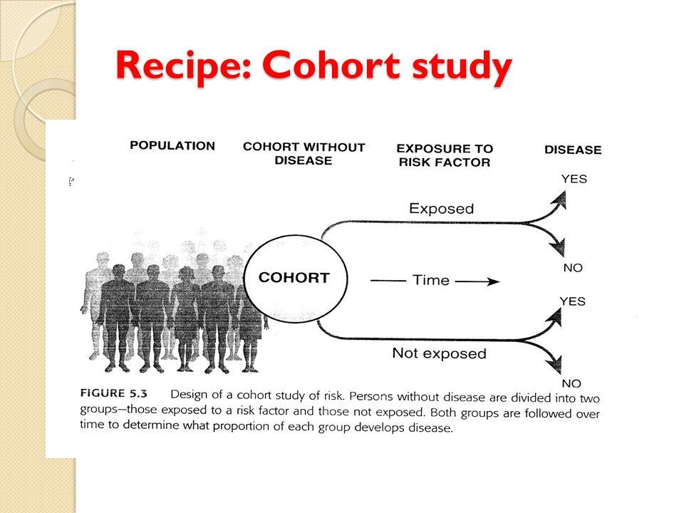 Recipe: Cohort study