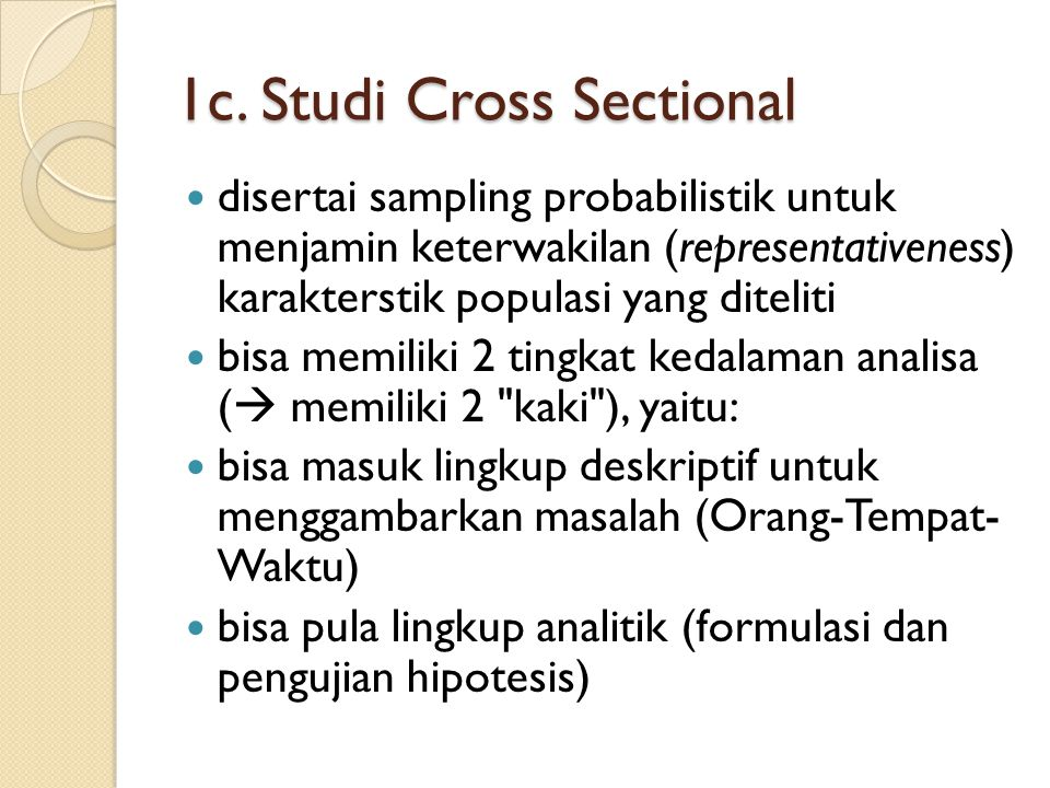 1c. Studi Cross Sectional