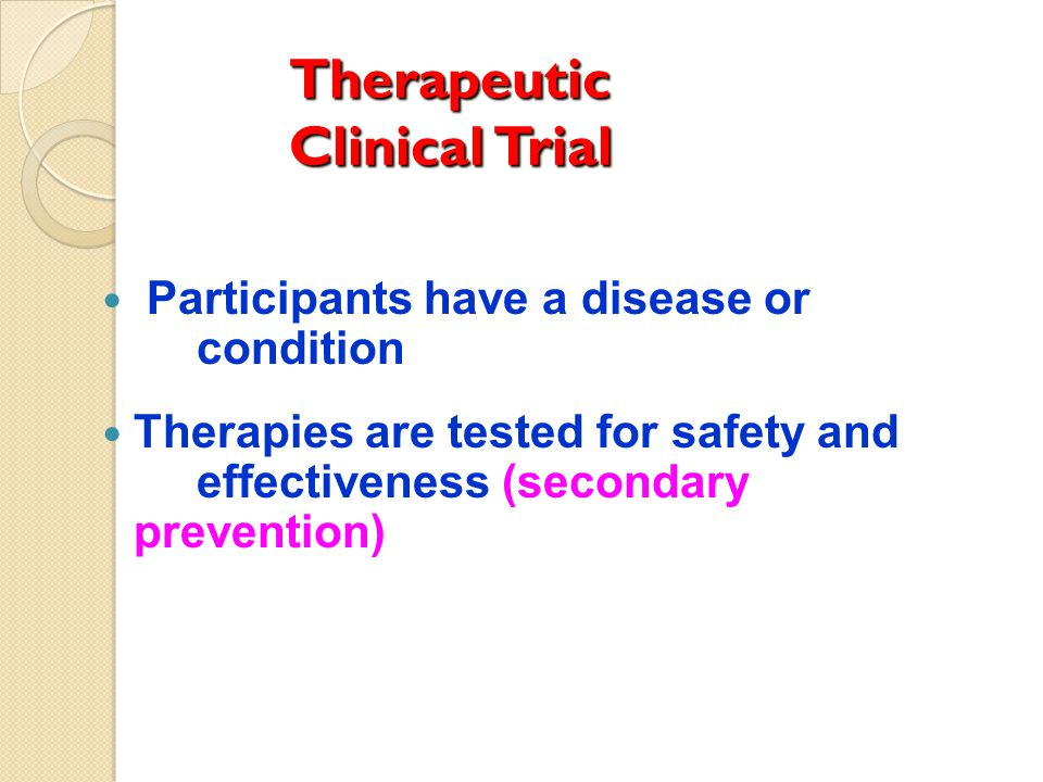 Therapeutic Clinical Trial