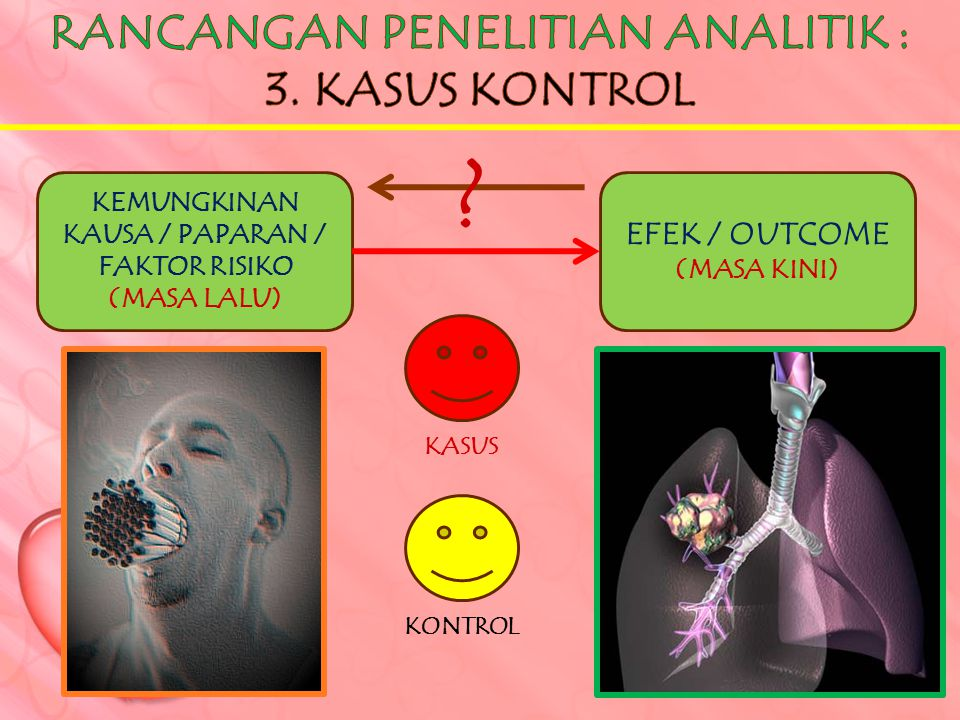 RANCANGAN PENELITIAN ANALITIK : 3. KASUS KONTROL EFEK / OUTCOME