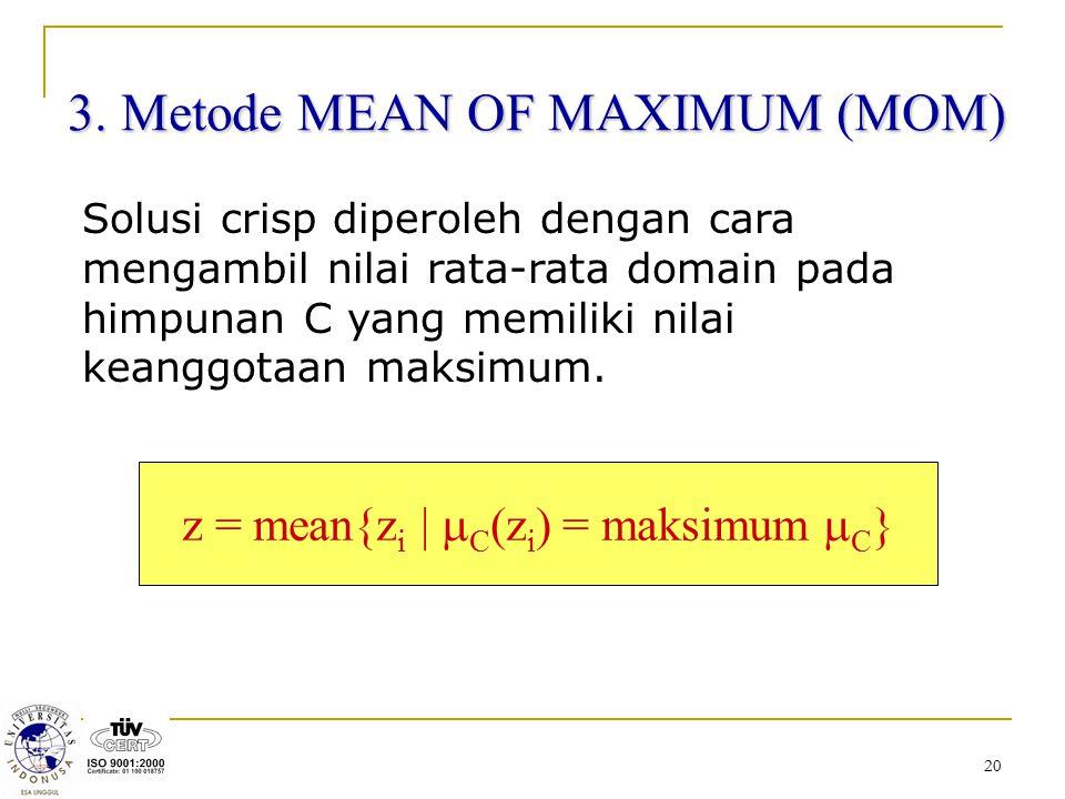 z = mean{zi | mC(zi) = maksimum mC}