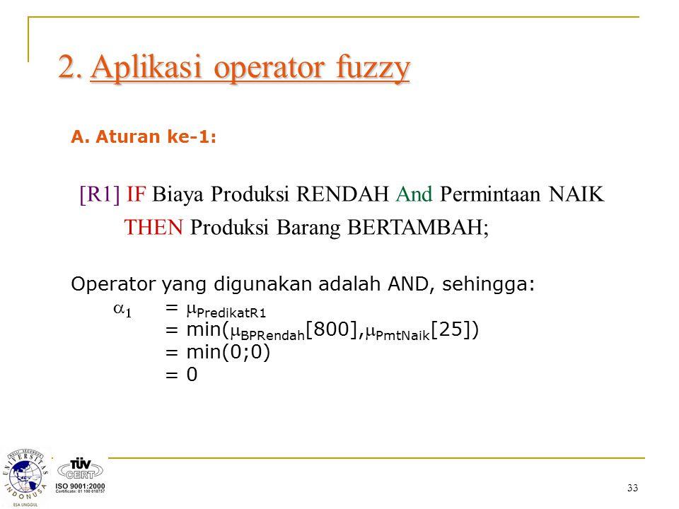 2. Aplikasi operator fuzzy