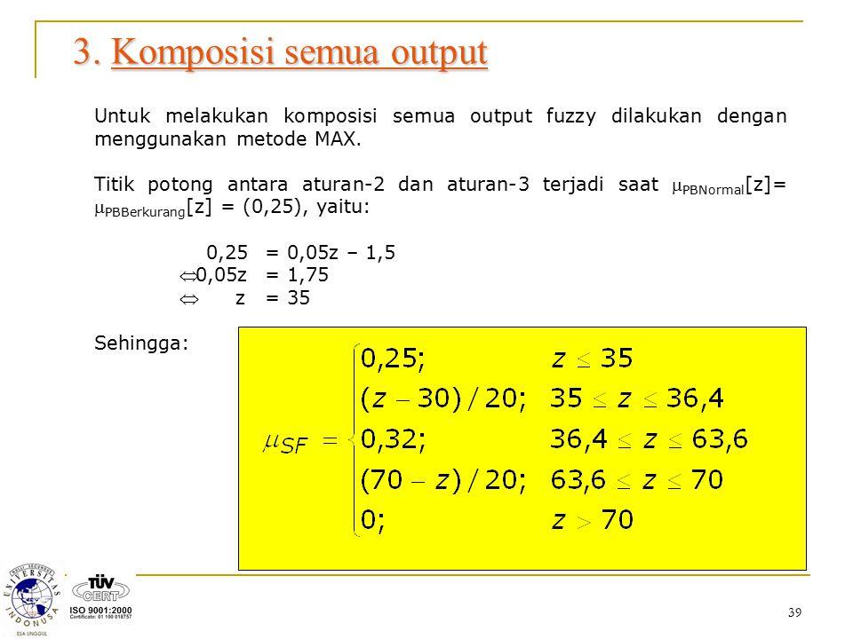 3. Komposisi semua output