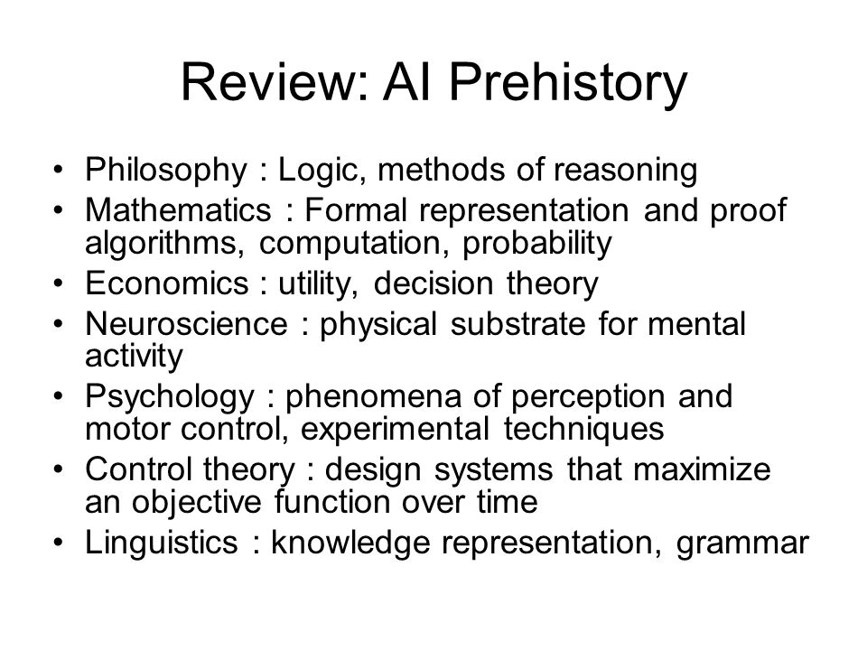 Review: AI Prehistory Philosophy : Logic, methods of reasoning