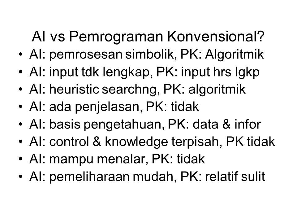 AI vs Pemrograman Konvensional