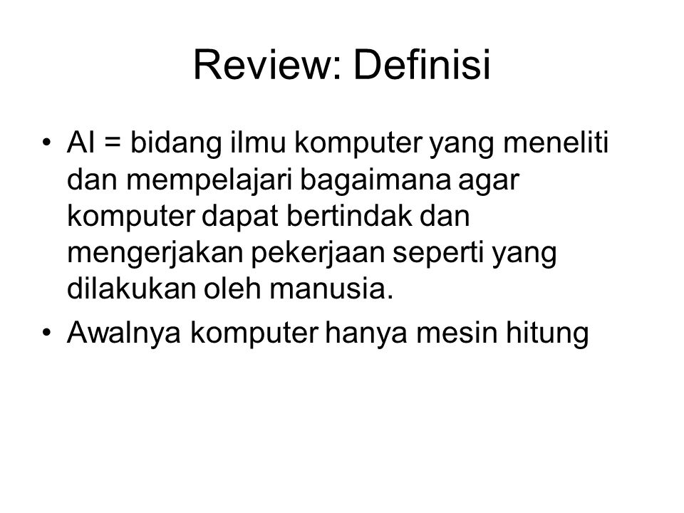 Review: Definisi