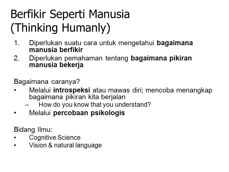 Berfikir Seperti Manusia (Thinking Humanly)