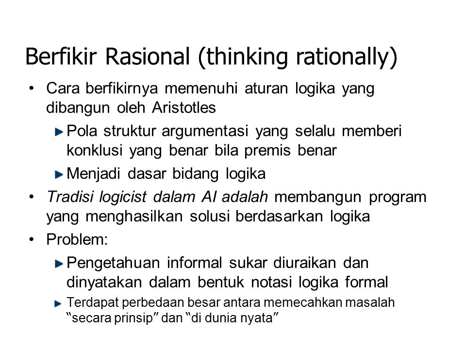 Berfikir Rasional (thinking rationally)