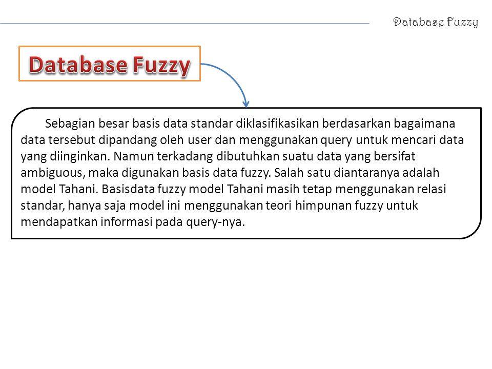 Database Fuzzy Database Fuzzy.